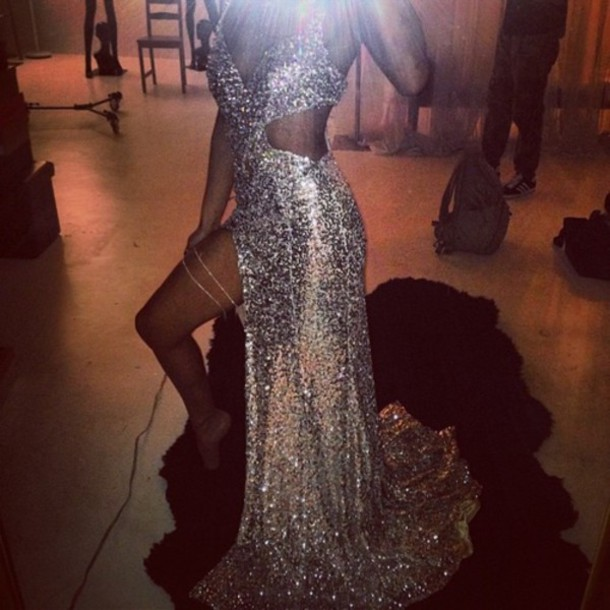 dress prom dress glitterdress