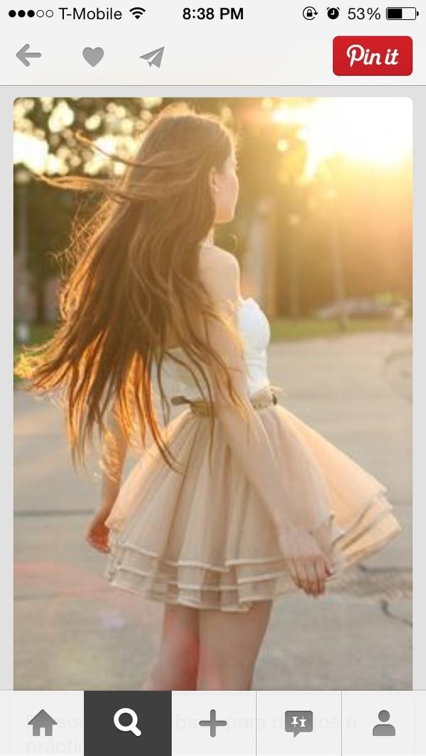 dress tulle dress cute dress girly summer dress belted dress braided belt