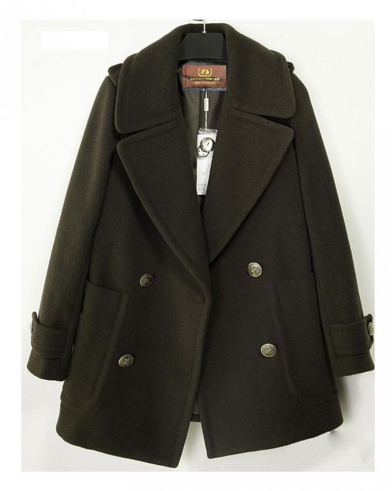 Coffee Tailored Collar Wind Coat, the latest street style collection