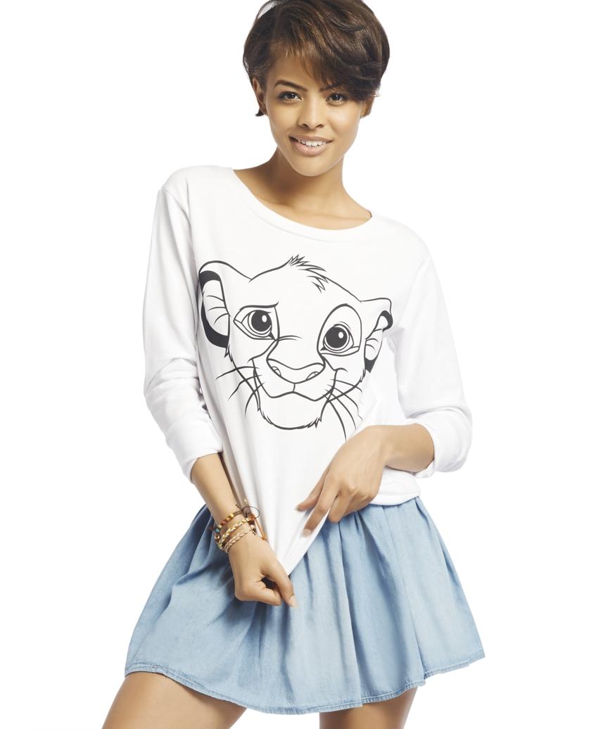 Sketched Simba™ Sweatshirt | Wet Seal