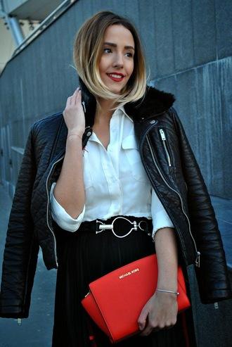 let's talk about fashion ! blogger leather jacket pandora