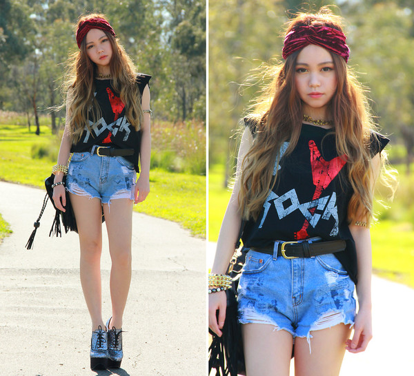 shorts jeans denim i4out look lookbook clothes streetstyle shoes