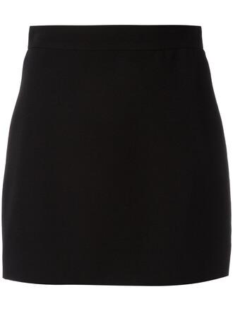 skirt mini skirt mini women black silk wool