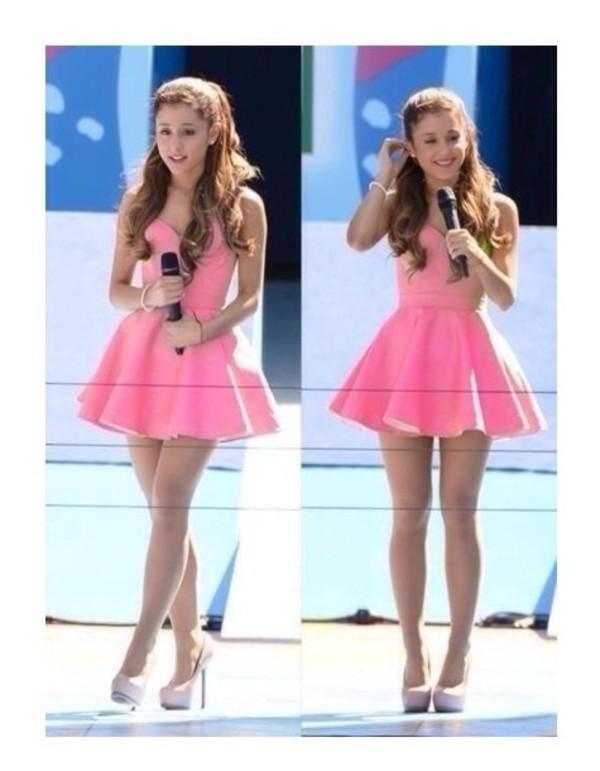 dress pink dress pink ariana grande cute lovely ariana grande purple dress cute dress shoes short dress ariana grande heels high heels ariana grande girly puffy ariana grande dress lavender dress skater dress