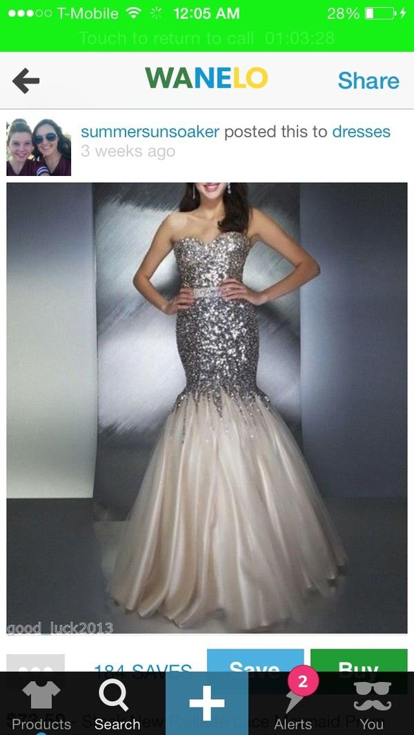 dress prom dress mermaid prom dress diamonds