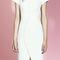 Short sleeved pencil dress with curved button detailing by antonio berardi   moda operandi