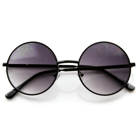 Designer Medium Round Metal Fashion Sunglasses 8570                             zeroUV
