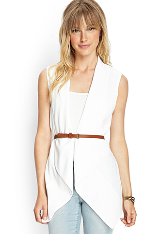 Draped Vest w/ Belt | FOREVER 21 - 2000104941
