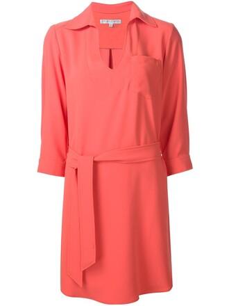 dress wrap dress yellow orange