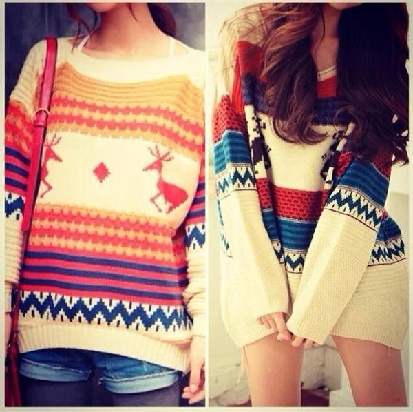 sweater christmas sweater beautiful colorful