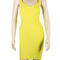 Ladies sexy backless bandage bodycon dress evening cocktail party dress yellow | ebay