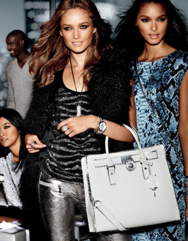 dress fashion michael kors lookbook jacket tank top pants bag jewels