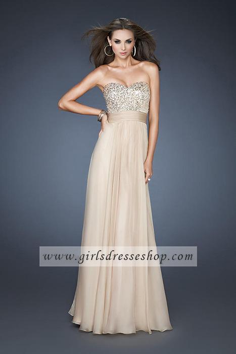 Prom Dresses Sequin Embellished Strapless by La Femme 18584 Nude [#DR6571] - $170.00 : Cheap Dresses for Girls Online Shop