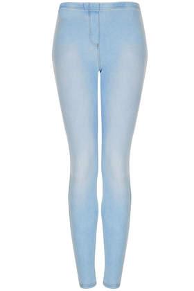 Washed Denim Look Leggings - Leggings  - Clothing  - Topshop