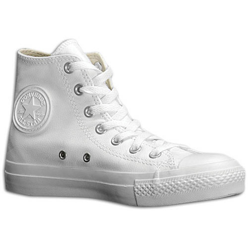 Converse All Star Leather Hi - Men's - Basketball - Shoes - White/Monochrome