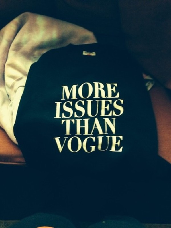 shirt t-shirt black vogue tumblr clothes crewneck sweater cute swag sweater weather white