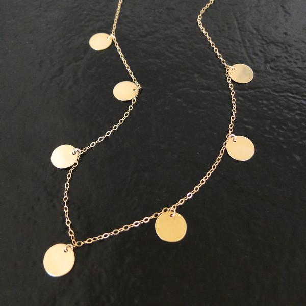 jewels coin drop neckace disc necklace mackenzie's necklace emily mortimer necklace classicdesigns on etsy theresa mink jewelry necklace the newsroom disc drop necklace circle necklace looks for less coin necklace