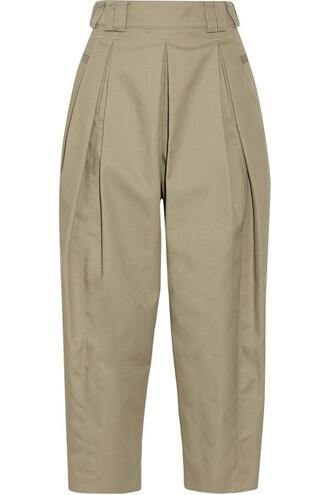 pants pleated cropped