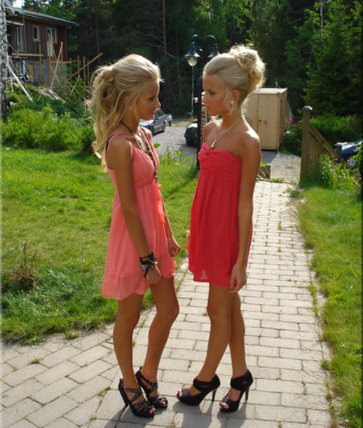 dress dress party pink dress girl pink pretty