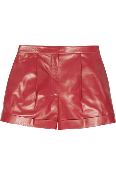 Valentino|Cash & Rocket stud-embellished leather shorts|NET-A-PORTER.COM