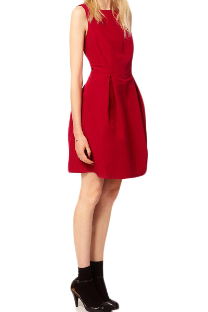 New Sexy Sleeveless Backless Red Bow Dress,Cheap in Wendybox.com