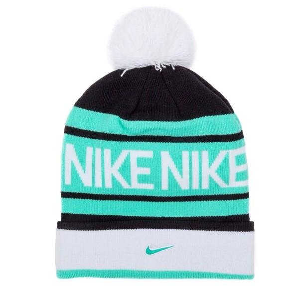 hat nike beanie nike nike hat winter hat blue black white