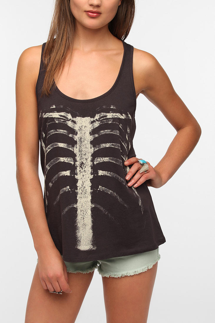 Workshop Ribcage Tank Top - Urban Outfitters