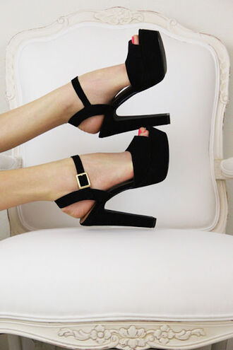 shoes platform shoes peep toe steve madden black classy heels heel high heels gorgeous clothes fashion peep toe heels square cool style black heels black shoes black high heels women shoes