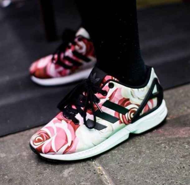 shoes adidas shoes adidas adidas neon zxflux