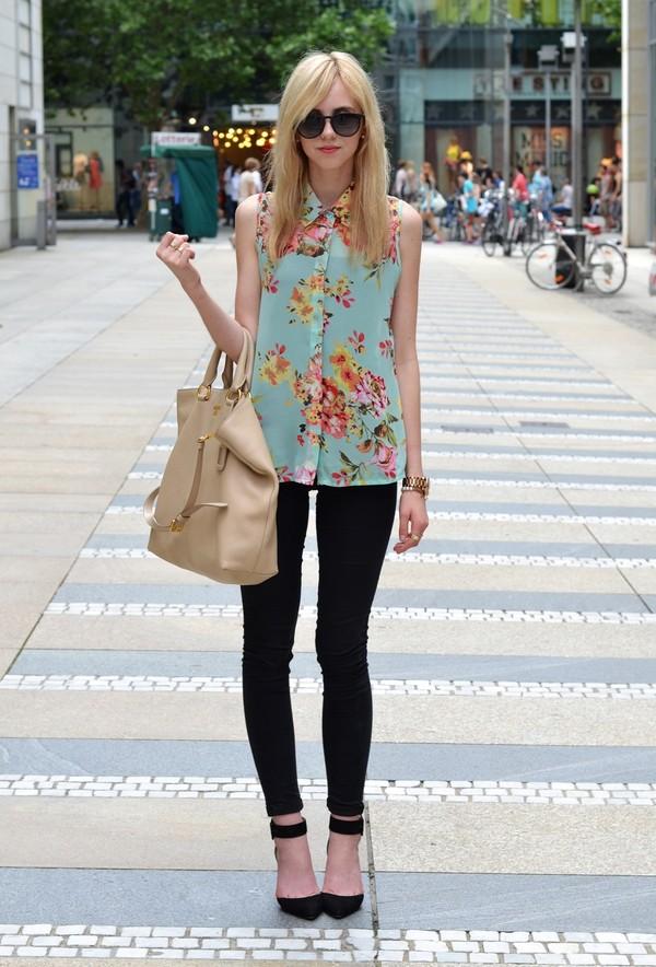 vogue haus blouse shoes bag sunglasses jewels