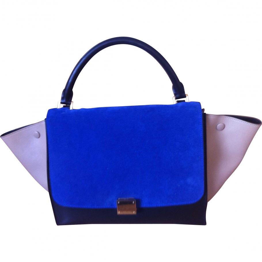 Trapeze CELINE Blue in Leather All seasons - 836299