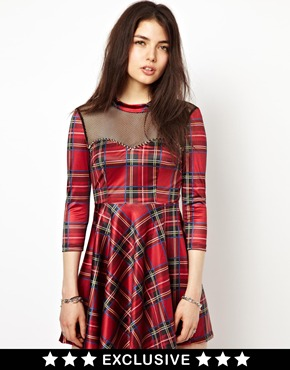 Lost | Freak Of Nature Lost And Bound Tartan Dress at ASOS