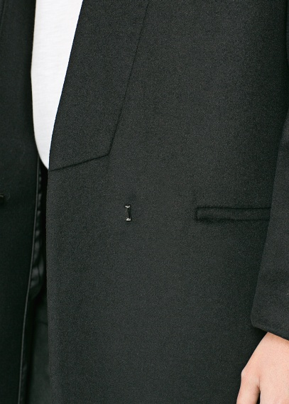 MANGO - NEW - Masculine cashmere wool-blend coat