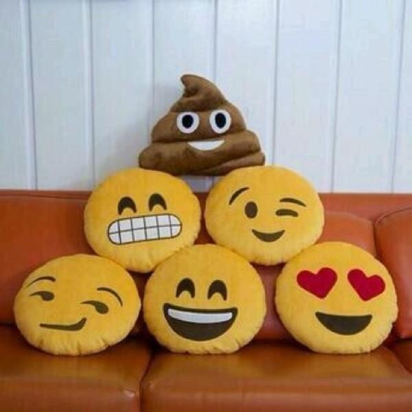 scarf pillow funny emoji print jewels emoji print home accessory