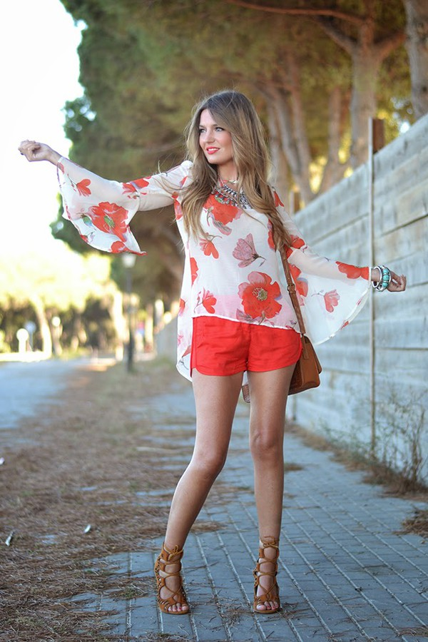 mi aventura con la moda blouse shoes bag t-shirt jewels shorts