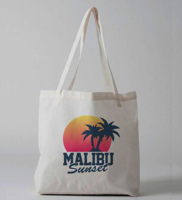 bag malibu malibu bag malibu tote bag sunset tote bag tote bag tote bag purse printed bag canvas tote