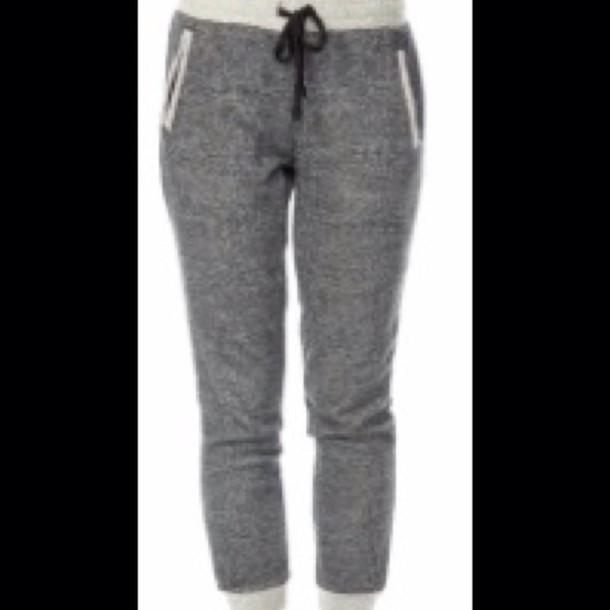 pants gray joggers