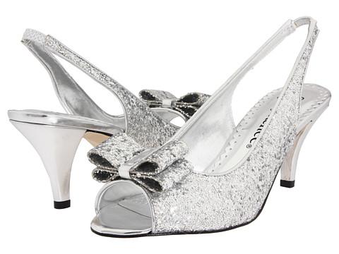 J. Renee Rosina Silver Glitter Fabric - Zappos.com Free Shipping BOTH Ways