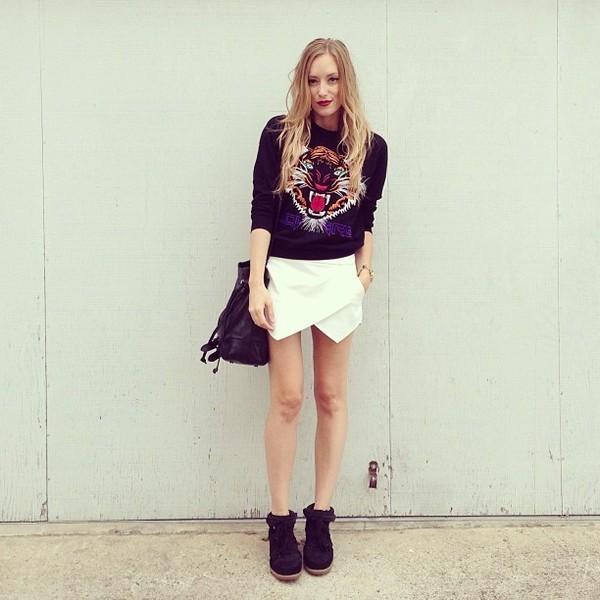 shorts skorts white skort wrap skort icifashion ici fashion t-shirt