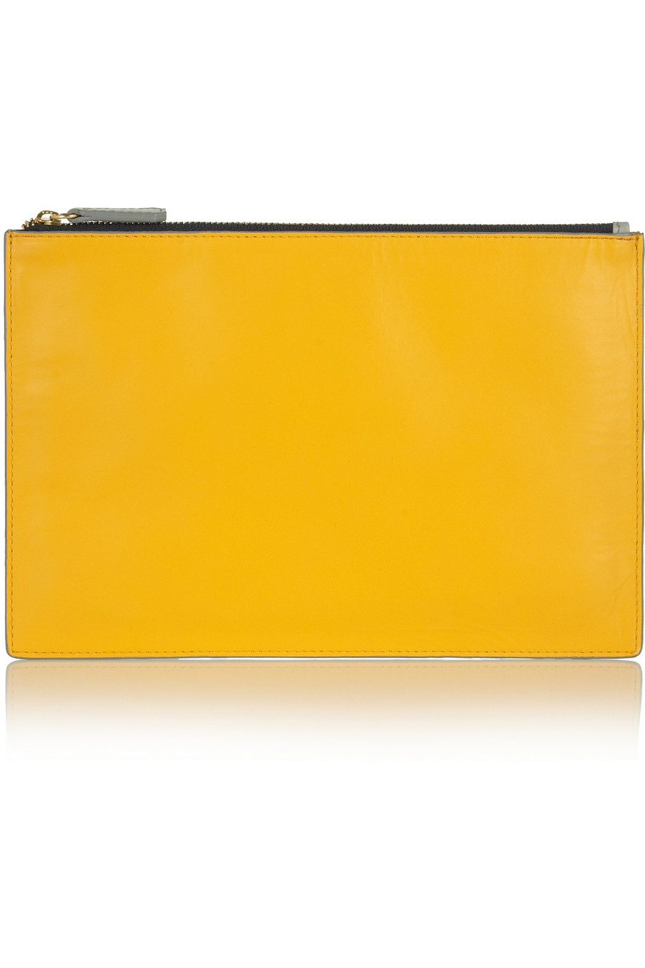 Two-tone leather pouch    Iris & Ink   THE OUTNET
