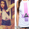 Becky g: upside down cross tank | steal her style