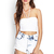 Bleached Denim Cutoffs | FOREVER21 - 2000121665
