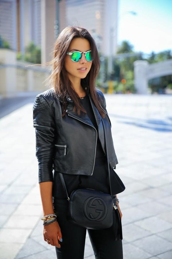 sunglasses jacket bag jewels