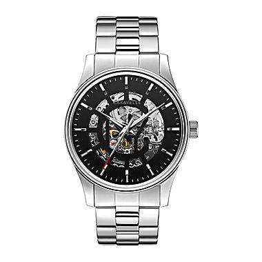 Caravelle New York® Mens Automatic Skletone Dial Bracelet Watch - JCPenney