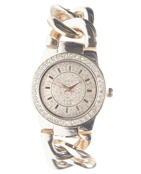 Bling Bling Chain-Link Watch | Wet Seal