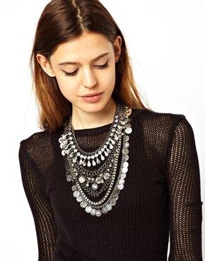 ASOS | ASOS – Hochwertige Halskette mit indischem Münzdesign bei ASOS