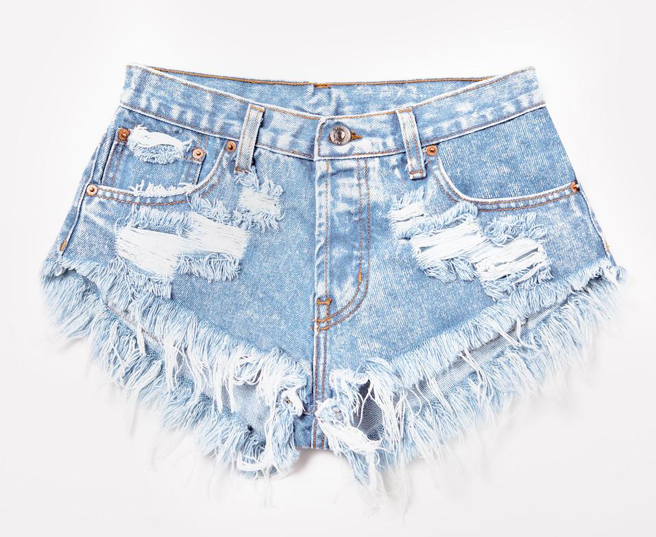 Stoner Babe Super Frayed Shorts   RUNWAYDREAMZ