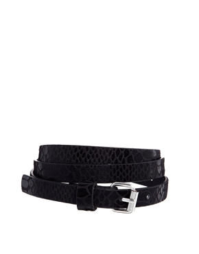 Pieces | Pieces Diw Snake Print Super Slim Jeans Belt at ASOS