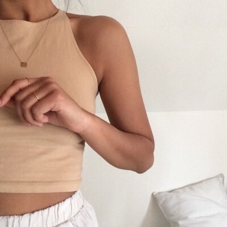 top halter neck style scrapbook style cute brown sleeveless