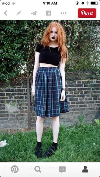 skirt grunge dark